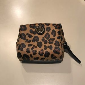 Tory Burch Leopard Cosmetic Case
